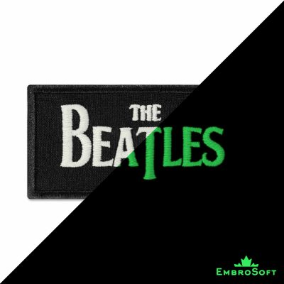The Beatles Logo Embroidered Glowing Patch (3.6″ x 2.2″) Glow in the dark