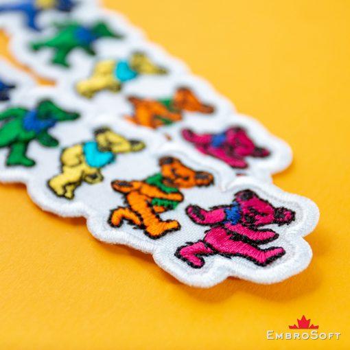 Grateful Dead Dancing Bears Embroidered Patch (3.9″ x 1.2″) Grateful Dead