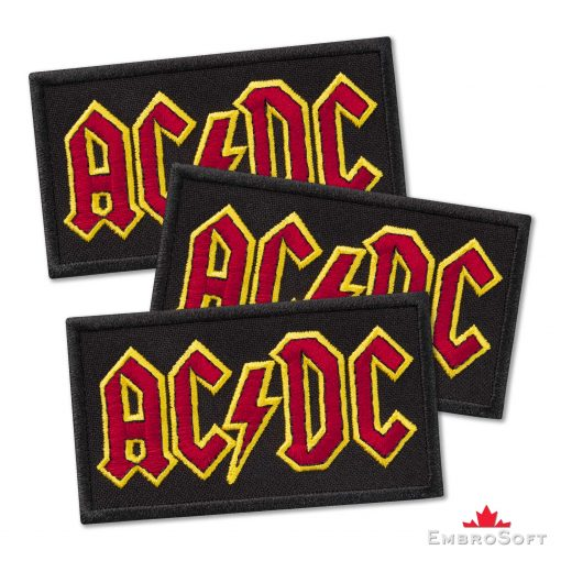 AC/DC Logo Embroidered Patch (3.4ʺ x 1.9ʺ) AC/DC