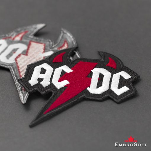 AC/DC Devil Logo Embroidered Patch (3.1ʺ x 3.3ʺ) AC/DC