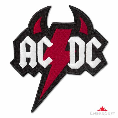 AC/DC Devil Logo Embroidered Patch (3.1ʺ x 3.3ʺ) AC/DC