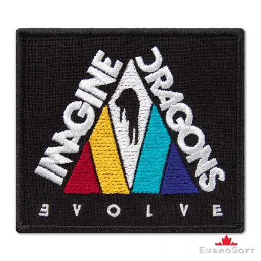 Imagine Dragons Evolve Triangle Embroidered Patch (2.9″ x 2.6″) Imagine Dragons