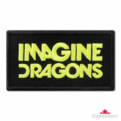 Imagine Dragons Bright Yellow Logo Embroidered Patch (3.4″ x 1.9″) Imagine Dragons