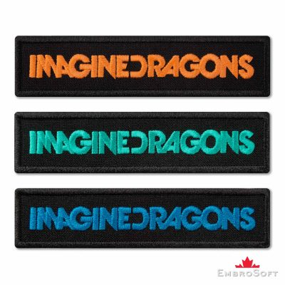 Imagine Dragons Title Set Embroidered Patch (4″ x 0.9″ ) Imagine Dragons