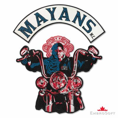 Mayans M.C. Biker Embroidered Patch Iron On for the Back Mayans M.C.