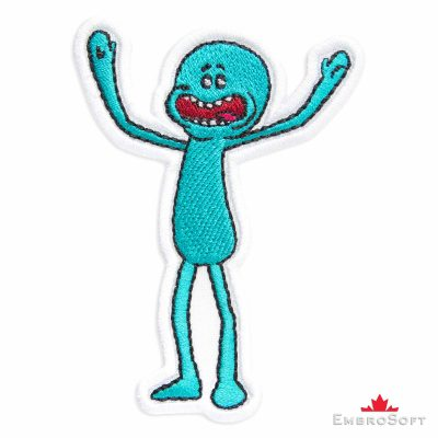 Mr. Meeseeks Embroidered Patch (2.7″ x 3.9″) Cartoons