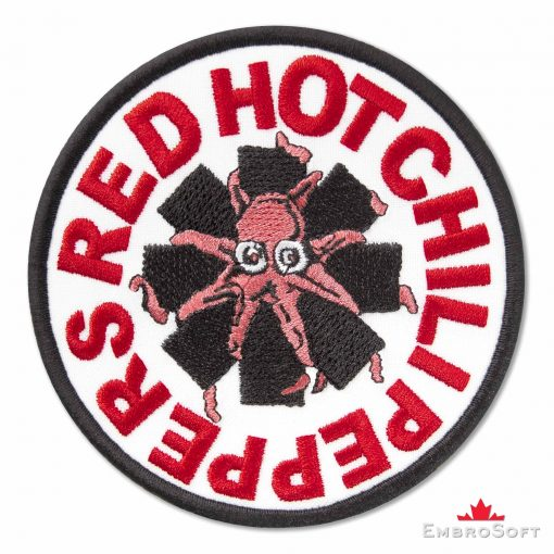 Red Hot Chili Peppers Logo with Octopus Embroidered Patch (3.7″ x 3.7″) Music