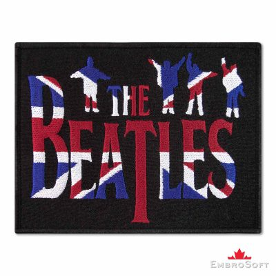 The Beatles United Kingdom Flag Embroidered Patch Iron On The Beatles