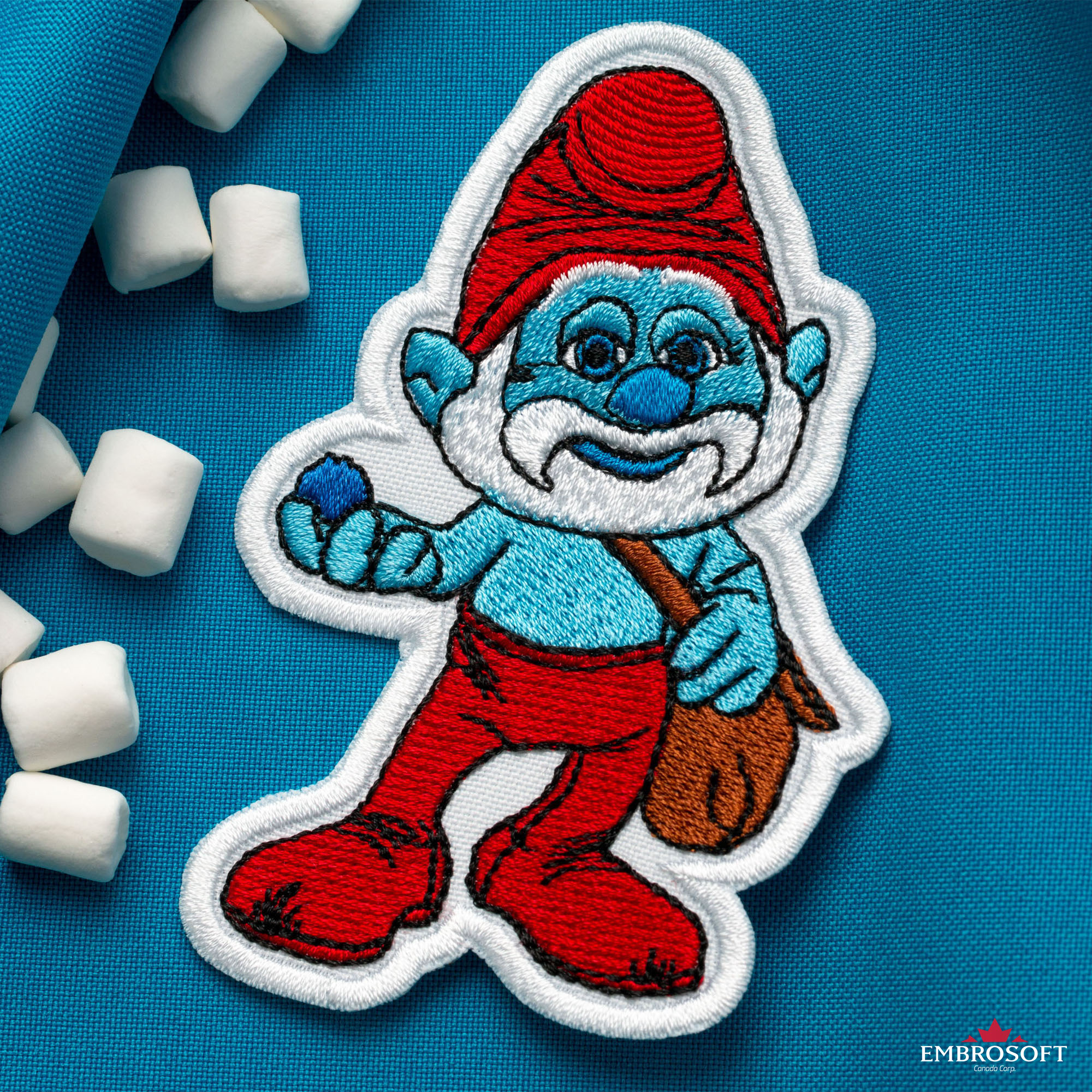Smurfs Sew on /& iron on embroidery patches