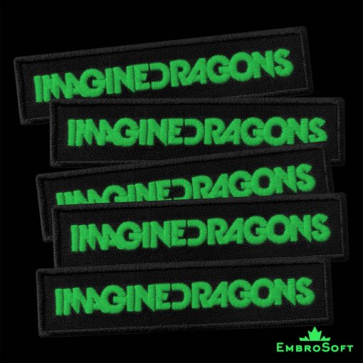 Imagine Dragons Title Embroidered Glowing Patch (4″ x 0.9″) Glow in the dark