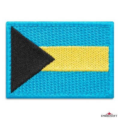 Flag of Bahamas Embroidered Patch (2.8″ × 2″) Flags of North America
