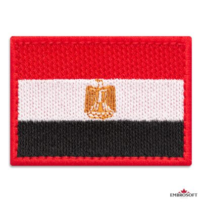Flag of Egypt Embroidered Patch (2.8″ × 2″) Flags of Africa