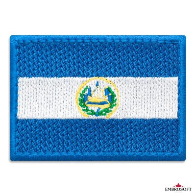 Flag of El Salvador Embroidered Patch (2.8″ × 2″) Flags of North America