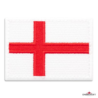 Flag of England Embroidered Patch (2.8″ × 2″) Flags of Europe