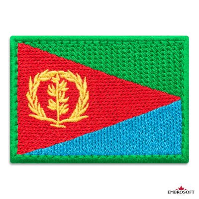 Flag of Eritrea Embroidered Patch (2.8″ × 2″) Flags of Africa