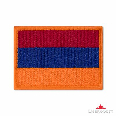 Flag of Armenia Embroidered Patch (2.8″ × 2″) Flags of Asia