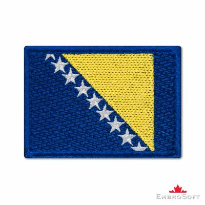 Flag of Bosnia and Herzegovina Embroidered Patch (2.8″ × 2″) Flags of Europe
