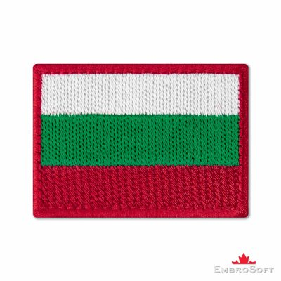 Flag of Bulgaria Embroidered Patch (2.8″ × 2″) Flags of Europe