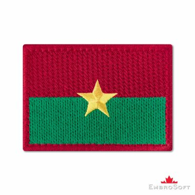 Flag of Burkina Faso Embroidered Patch (2.8″ × 2″) Flags of Africa