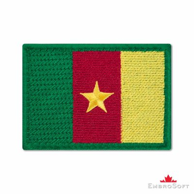 Flag of Cameroon Embroidered Patch (2.8″ × 2″) Flags of Africa