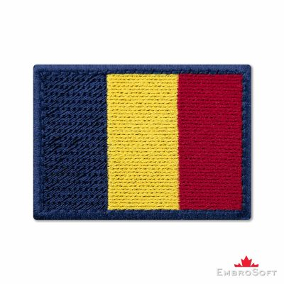 Flag of Chad Embroidered Patch (2.8″ × 2″) Flags of Africa