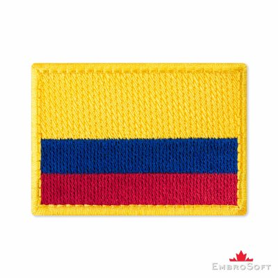 Flag of Colombia Embroidered Patch (2.8″ × 2″) Flags of South America