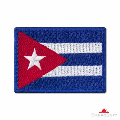 Flag of Cuba Embroidered Patch (2.8″ × 2″) Flags of North America