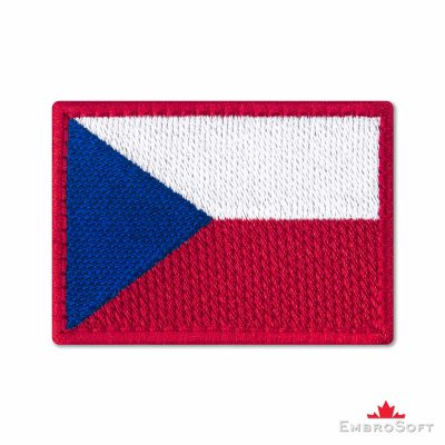 Flag of Czech Republic Embroidered Patch (2.8″ × 2″) Flags of Europe