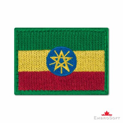 Flag of Ethiopia Embroidered Patch (2.8″ × 2″) Flags of Africa