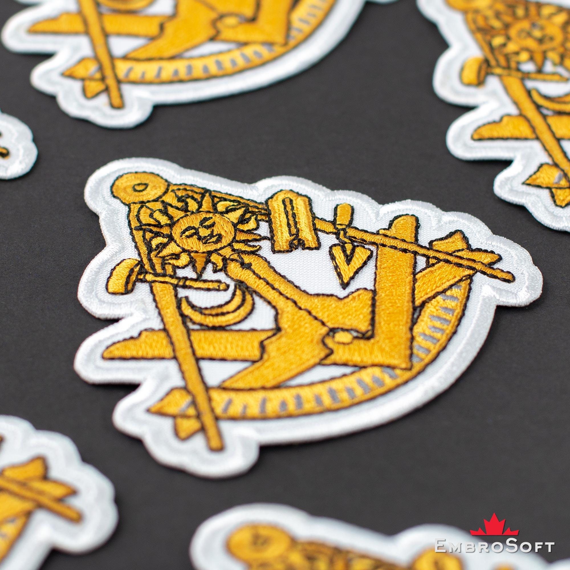 Masonic Symbols Embroidered Patch (3 5