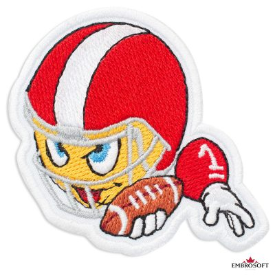 American Football Player Emoji Embroidered Patch Iron On (2.6″ x 2.9″) Emoji