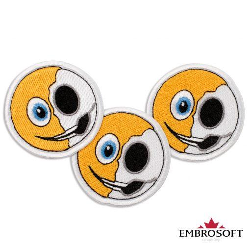 Anatomy of an Emoji Embroidered Patch Iron On (2.4″ x 2.4″) Emoji