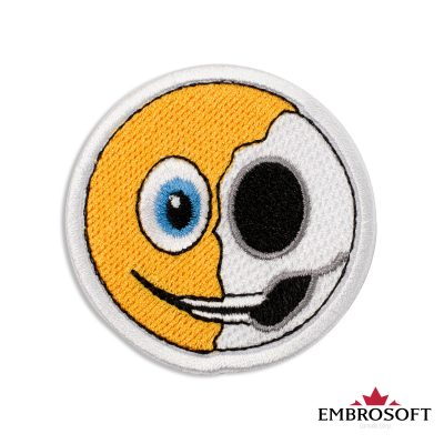 Anatomy of an Emoji Embroidered Patch Iron On (2.4″ x 2.4″) Emoji