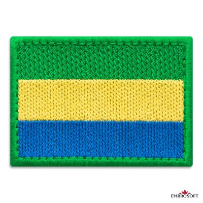 Flag of Gabon Embroidered Patch (2.8″ × 2″) Flags of Africa