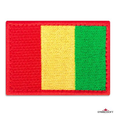 Flag of Guinea Embroidered Patch (2.8″ × 2″) Flags of Africa