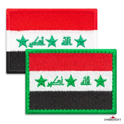 Flag of Iraq Embroidered Patch (2.8″ × 2″) Flags of Asia