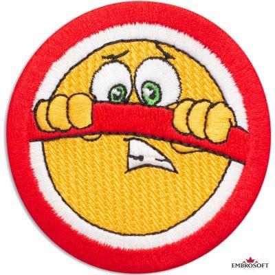 STOP sign Emoji Embroidered Patch Iron On (2.7″ x 2.8″) Emoji
