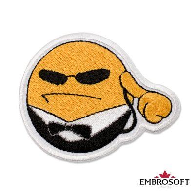 Security Emoji Embroidered Patch Iron On (3.2″ x 2.6″) Emoji