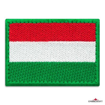 Flag of Hungary Embroidered Patch (2.8″ × 2″) Flags of Europe