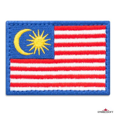 Flag of Malaysia Embroidered Patch (2.8″ × 2″) Flags of Asia