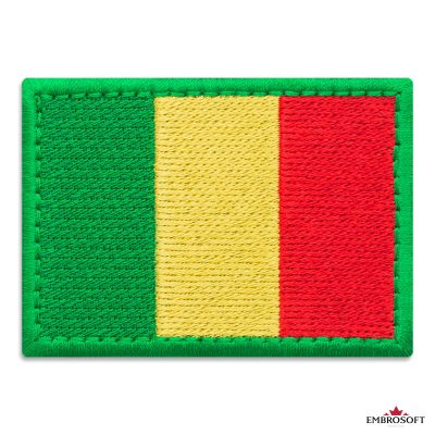 Flag of Mali Embroidered Patch (2.8″ × 2″) Flags of Africa
