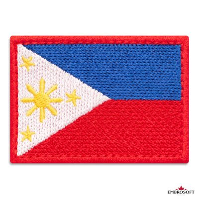 Flag of Philippines Embroidered Patch (2.8″ × 2″) Flags of Asia