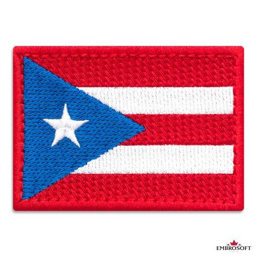 Flag of Puerto Rico Embroidered Patch (2.8″ × 2″) Flags of North America