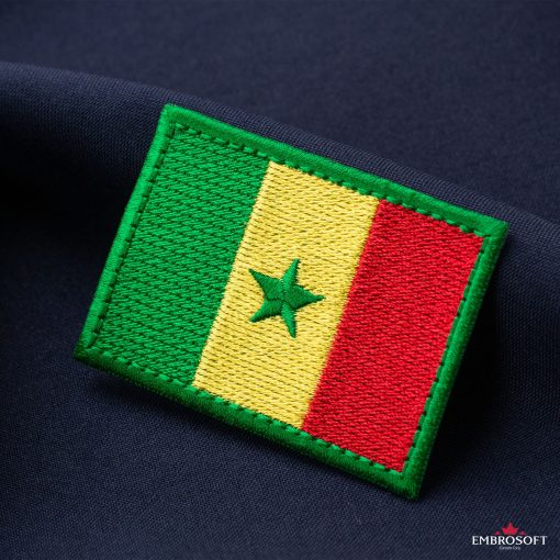 Flag of Senegal Embroidered Patch (2.8″ × 2″) Flags of Africa