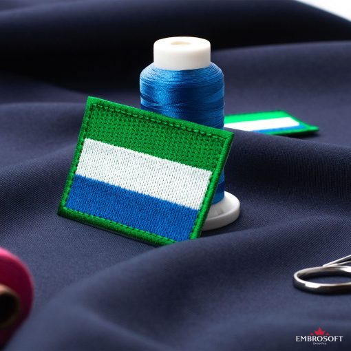 Flag of Sierra Leone Embroidered Patch (2.8″ × 2″) Flags of Africa