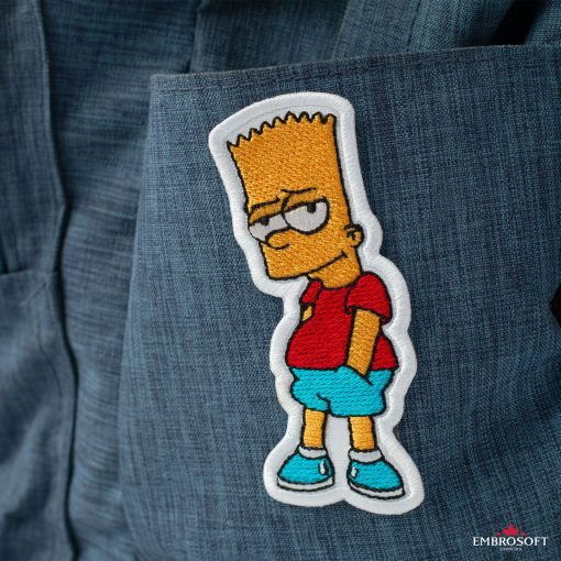 Bart Simpson Embroidered Patch (1.8″ x 3.7″) Cartoons