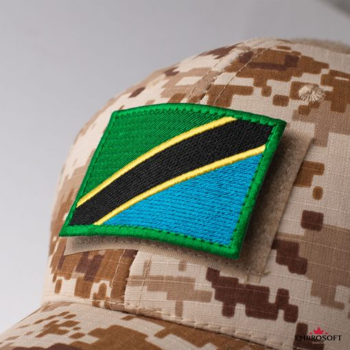 Flag of Tanzania Embroidered Patch (2.8″ × 2″) Flags of Africa