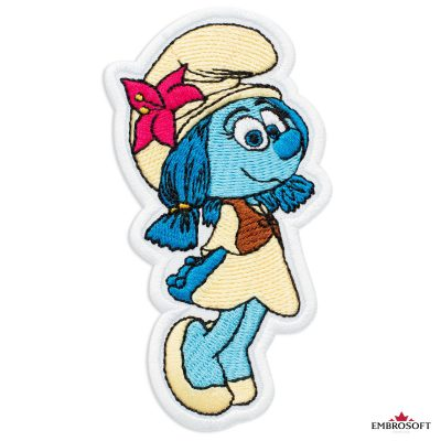 The Smurfs Lily Embroidered Patch Iron On (2.4″ x 4.1″) Cartoons
