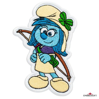 The Smurfs Storm Embroidered Patch Iron On (2.9″ x 3.9″) Cartoons