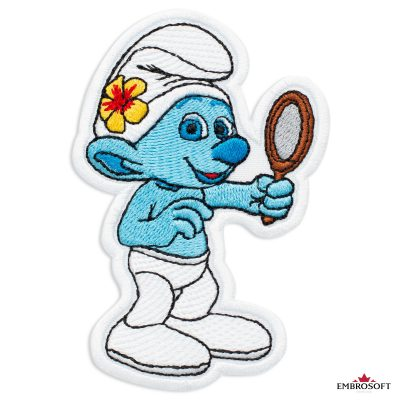 The Smurfs Vanity Embroidered Patch Iron On (2.6″ x 3.8″) Cartoons